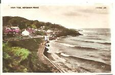 LOVELY VINTAGE POSTCARD,HIGH TIDE,HEYSHAM POINT,MORECAMBE,LANCASHIRE,1940,RP