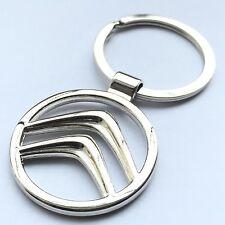CITROEN 3D Chrome Metal Car Logo Keyring Key Fob Keychain