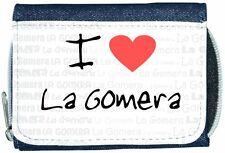 I Love Heart La Gomera Denim Wallet