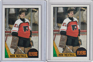 87/88 TOPPS RON HEXTALL ROOKIE RC #169 x 2 CARD LOT NM-MINT