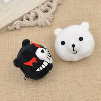Anime Danganronpa Junko Hair Clip Kawai Bear Cosplay Hairclip Black White Lotia