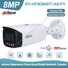 Dahua 8MP Full Color Mic Speaker WDR PoE Security IP Camera IPC-HFW3849T1-AS-PV
