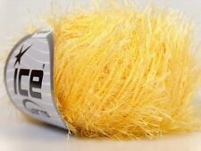 Light Yellow Eyelash Yarn Ice Fun Fur 50 gram 70 yards 22755