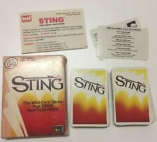 Sting Card Game From The Makers Of UNO *Vintage & Complete* 1984