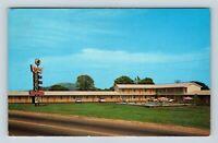 Stone Mountain GA, Memorial Motel, Marquee, Pool, Chrome Georgia Postcard