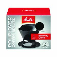 Melitta 64007 Ready Set Joe Single Cup Coffee Brewer Black with Filters