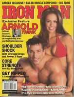 SEPT 2007 IRON MAN vintage body building magazine ARNOLD SCHWARZENEGGER