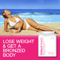 TOTALLY TANNED SKINNY TAN TABLET SLIMMING PILL PERMANENT TAN WEIGHT LOSS