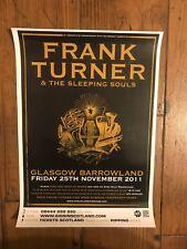 Original Frank Turner and The Sleeping Souls 2011 Concert Poster