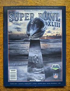 Pittsburgh Steelers Superbowl 43 Program Super Bowl XLIII