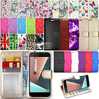 For Vodafone Smart E8 - Wallet Leather Case Flip Book Cover + Screen Protector