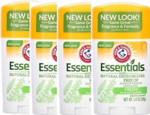 Arm & Hammer Essentials Deodorant Fresh Rosemary Lavender 1.0 oz ea **LOT of 4**