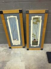 Warren Kimble Winter Spring Season Wood Picture Frame Primitive Folk Art Vintage
