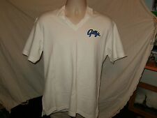 Gilly's Embroidered Polo Shirt Size  L Large White Short Sleeve New With Tag