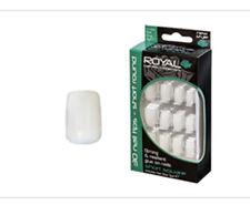 Royal False Nail Tips & Glue Natural Short Square