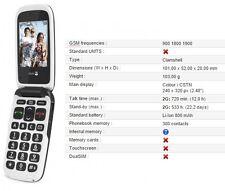 NEUF DORO phone easy 612 noir débloqué téléphone mobile caméra 2 mégapixels