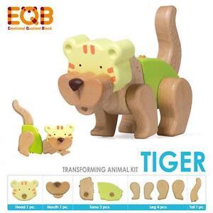 NEW EQB Transforming Wooden Animal Kit - Tiger