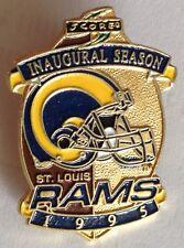 St Louis Rams 1995 Inagural Season Pin Badge American Football Rare Vintage (E2)