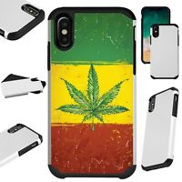 Fusion Guard For iPhone 6/7/8 PLUS/X/XR/XS Max Phone Case WEED FLAG