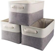 Faltbare Aufbewahrungsbox Stoff Aufbewahrungskorb Leinen für Kleidung Spielzeug
