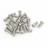 "25pcs 1/4""-20x3/4"" Stainless Steel Hex Socket Button Head Bolts Screws"