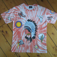 vintage mens M 1980s 4 sided American Indian Chief made in USA T-Shirt NEW