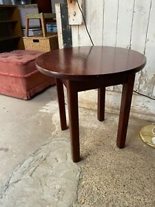 Solid Wooden Round Side End Coffee Table 23.5in 60cm diameter x 24in 61cm high