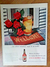 1956 Four Roses Society Whiskey Ad Welcome No Other Whiskey Says it as Well