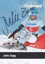 Julie ZOGG - Schweiz, Gold Jun.-WM 2009 Snowboard, Original-Autogramm!