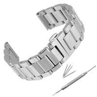 18-24mm Acier Inox Bracelet de Montre Boucle Argenté Deployante   FR ! FR1 Q