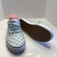 Van's women Green Glitter checkerboard Sneakers Doheny size 8M, Excellent