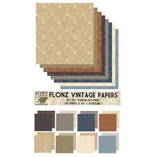 "Paper 24sh 6""x6"" # Damask Patterns Vintage # FLONZ 057 Craft Scrapbooking"