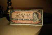 1954 Replacement $2 Dollar Bank of Canada Banknote *BB2898047