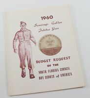 Vtg 1960 Golden Jubilee Budget Request North Florida Boy Scout of America BSA