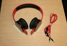 SOL REPUBLIC Tracks V8 On-Ear Headphones 3-Button Mic Music Control Red/Black