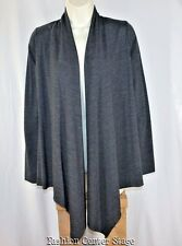 ROMEO JULIET COUTURE Cardigan Sweater SMALL Gray Topper Fly Away Topper Rayon