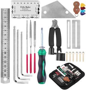 Guitar Repair Kit, Macllar Guitar Maintenance Tool Kit Guitar Ruler String Winde