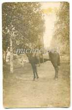 Russian WWI Cossack on Horse with Sword Rifle Bayonet and Lance Photo
