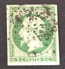 Timbre France, n°12B, 5c vert foncé/vert, TB, Obl, Cote 325e.