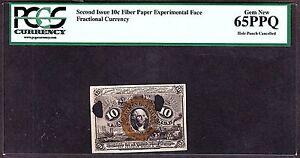 US 10c Fractional Currency Experimental Milton 2E10F.4 PCGS 65 PPQ GEM CU