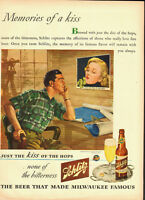 1944 Vintage ad for Schlitz Beer/Pin-up Girl/Bottle in Ad/Kiss (060213)