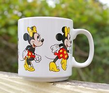 Walt Disney Minnie Mouse Coffee Mug Cup Running Red Dress Yellow Bow Korea