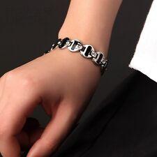 Womens Titanium Power Healing Crystal Magnetic Bracelet Wristband Balance Energy