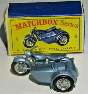 MATCHBOX SERIES NO. 4  TRIUMPH MOTORCYCLE AND SIDECAR