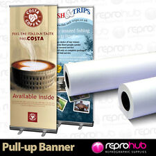 1 SOLVENT Grey Back Textured Roller Banner Display Film 230 micron 914mm x 30m