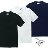 T-shirt da uomo serafino maglia coreana maglietta a bottoni 0/ZERO CONSTRUCTION