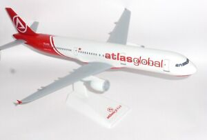 Airbus A321 Atlas Global Airlines Collectors Snap Fit Model Scale 1:100
