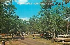 Castle Rock Lake Park Wisconsin~Tent Camping Area~Nice 1960s Cars~Station Wagon