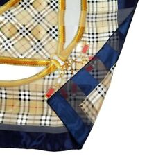 Scarf Square Vintage Blue Gold Nautical 41 in. Wrap Shawl Throw Scarves 1990s