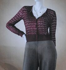 NWT Jennifer Lopez Pointelle Red Cardigan Size XS $60 is on tag